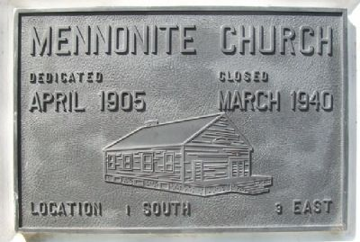 Mennonite Church Marker image. Click for full size.