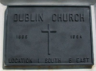Dublin Church Marker image. Click for full size.