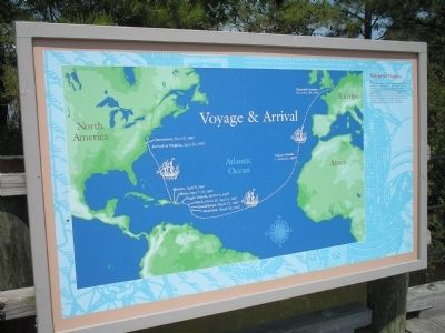 Voyage to Virginia Marker image. Click for full size.
