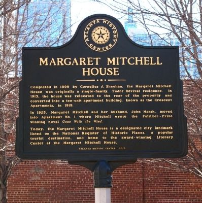 Margaret Mitchell House Marker Photo, Click for full size