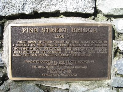 Pine Street Bridge Marker Photo, Click for full size