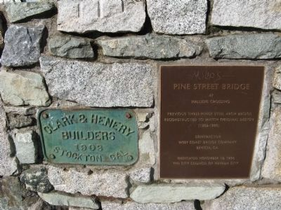 Pine Street Bridge Plaques at North End of Bridge Photo, Click for full size
