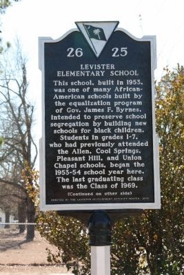 Levister Elementary School Marker<br>Side A image. Click for full size.