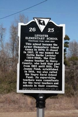 Levister Elementary School Marker<br>Side B image. Click for full size.