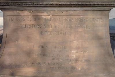 Thomas Hopkins Gallaudet Memorial, south face inscription image. Click for full size.