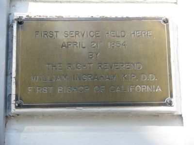 Plaque Mounted at the Entrance of the Church image. Click for full size.