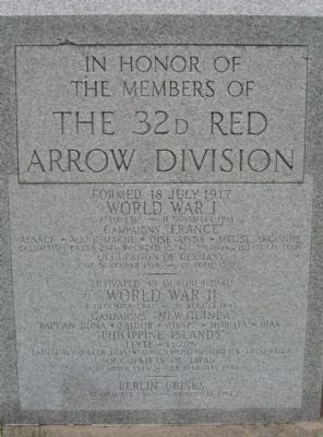 The 32d Red Arrow Division Marker image. Click for full size.