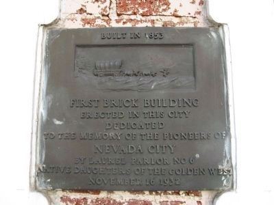 First Brick Building Marker image. Click for full size.