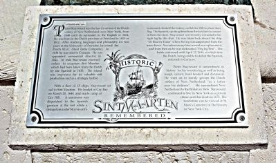 Sint Maarten Remembered Marker image. Click for full size.