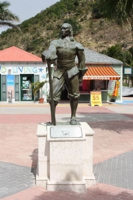 Historic Sint Maarten Remembered Marker and Stuyvesant statue image. Click for full size.