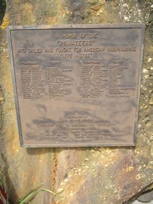 Privateers Marker Photo, Click for full size