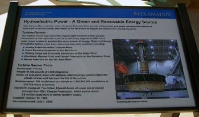 Hydroelectric Power - A Green and Renewable Energy Source Marker image. Click for full size.