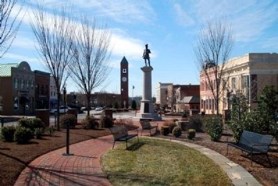 Daniel Morgan Square -<br>Looking West Toward the Monument Photo, Click for full size