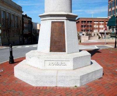 Daniel Morgan Monument -<br>Howard Side Photo, Click for full size