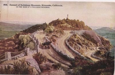 Mount Rubidoux Old Post Card image. Click for full size.