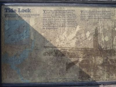A Canal to the West - Tide Lock Marker image. Click for full size.