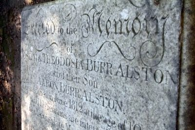 Close Up of Table-Top Grave Marker image. Click for full size.