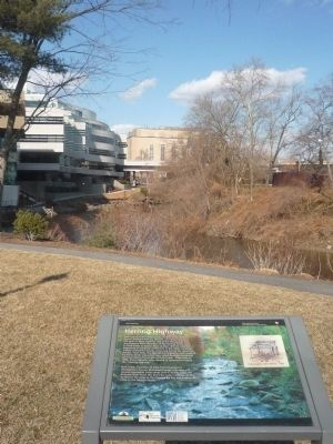 Herring Highway Marker - Rock Creek in background Photo, Click for full size