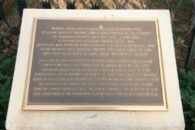University of Alabama's Slavery Apology Marker Photo, Click for full size