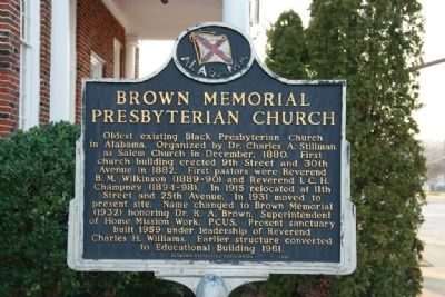 Brown Memorial Presbyterian Church Marker image. Click for full size.