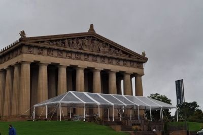 The Nashville Parthenon & Markers image. Click for full size.