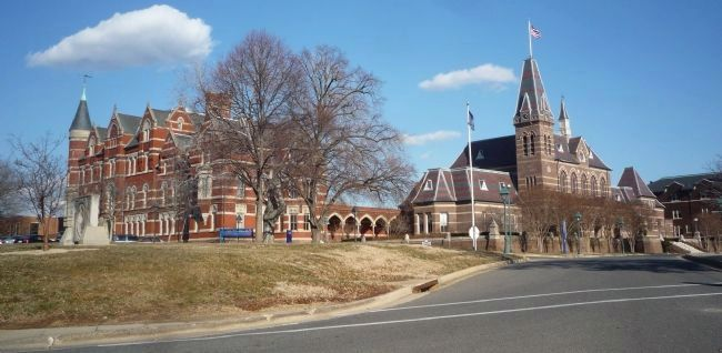 College Hall at left; Chapel Hall NHL to the right image. Click for full size.