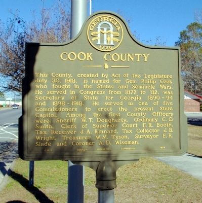 Cook County Marker image. Click for full size.