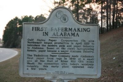 First Papermaking In Alabama Marker image. Click for full size.