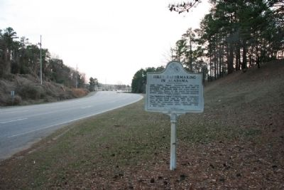 First Papermaking In Alabama Marker South View image. Click for full size.