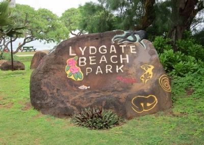 The Lydgate Pools are located in Lydgate Beach Park.... image. Click for full size.