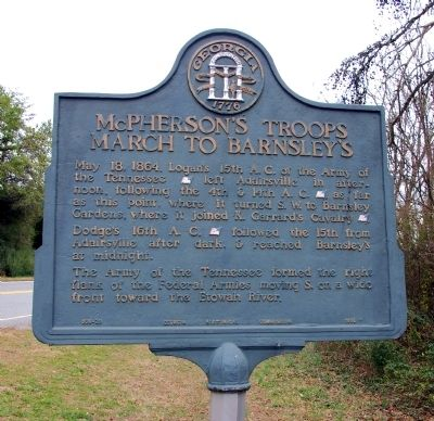 McPherson's Troops March to Barnsley's Marker image. Click for full size.