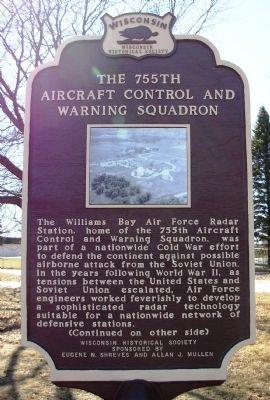 The 755th Aircraft Control and Warning Squadron Marker image. Click for full size.