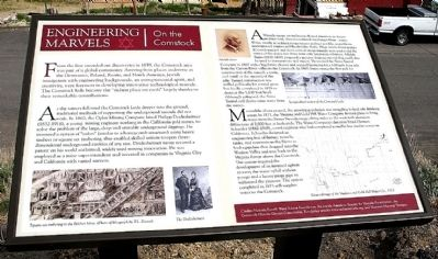 Engineering Marvels on the Comstock Marker image. Click for full size.