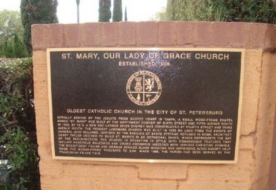 St. Mary, Our Lady of Grace Church Marker image. Click for full size.