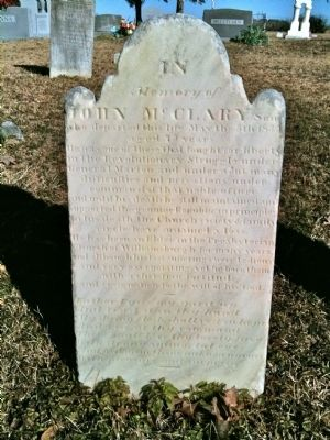 John McClary Headstone image. Click for full size.