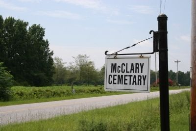 McClary Cemetery Sign on Simms Reach Road image. Click for full size.