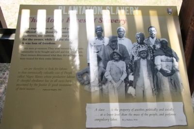 Plantation Slavery Marker image. Click for full size.