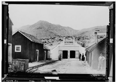 Entrance to the Sutro Tunnel image. Click for full size.