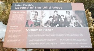 Butch Cassidy Marker Photo, Click for full size