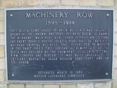 Machinery Row Marker image. Click for full size.