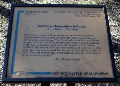 2nd New Hampshire Infantry Marker image. Click for full size.