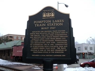 Pompton Lakes Train Station Marker image. Click for full size.