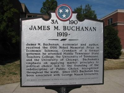 James M. Buchanan Marker image. Click for full size.