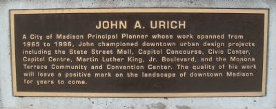 John A. Urich Marker Photo, Click for full size