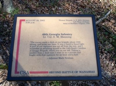 49th Georgia Infantry Marker image. Click for full size.