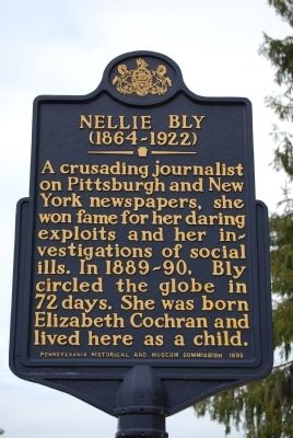 Nellie Bly Marker image. Click for full size.