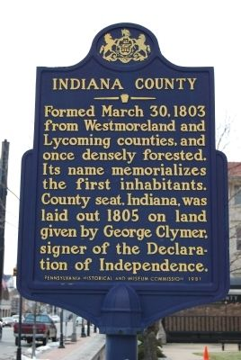Indiana County Marker Photo, Click for full size