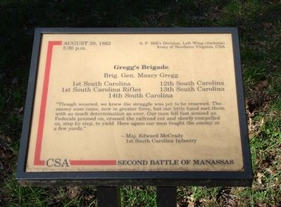 Gregg�s Brigade Marker Photo, Click for full size