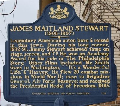 James Maitland Stewart Marker Photo, Click for full size