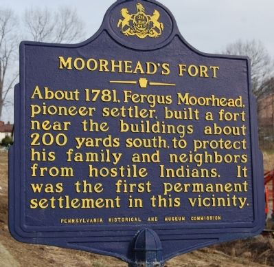 Moorhead's Fort Marker image. Click for full size.